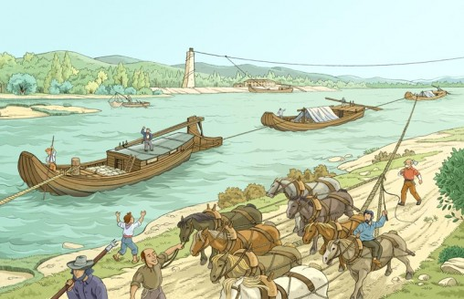 La remonte du Rhône