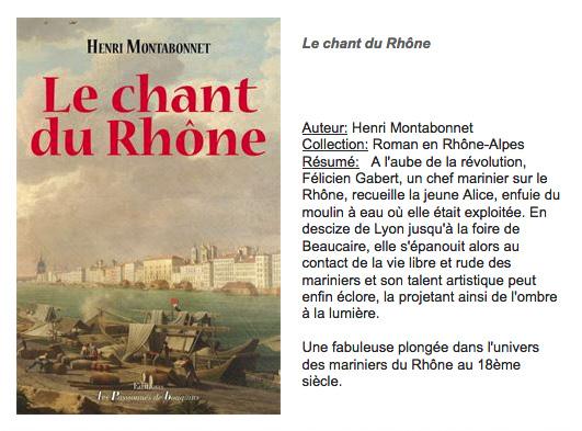 Le chant du Rhône, Henri Montabonnet